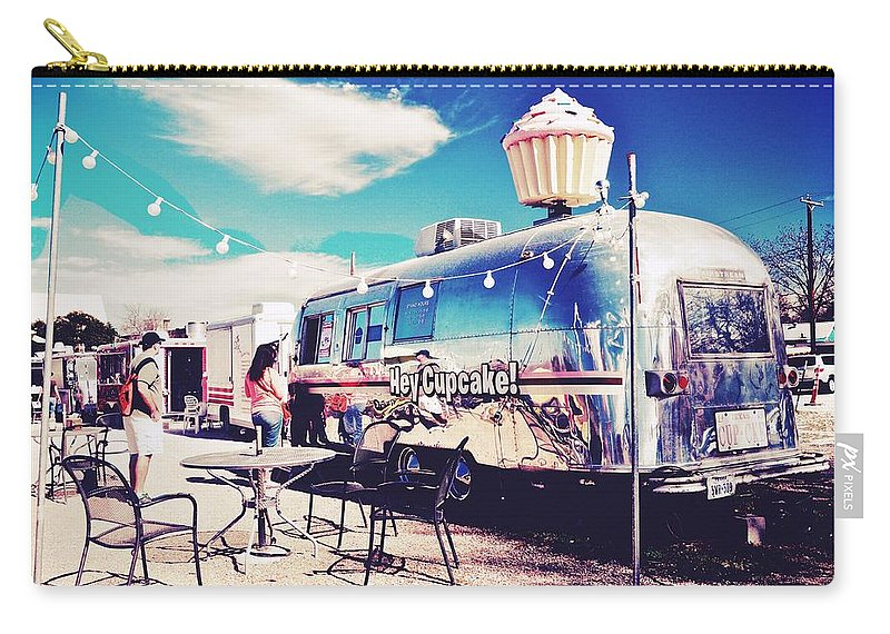 Cupcake Food Trailer Carry-all Pouch featuring the photograph Stopping For A Treat by Kristina Deane