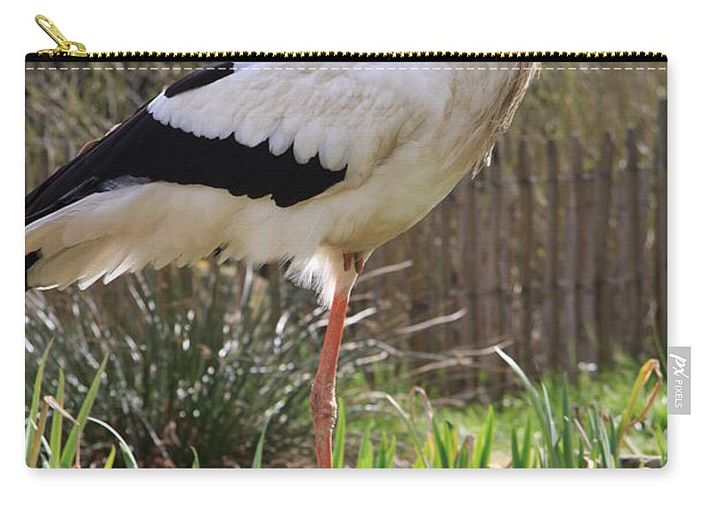 Stork Carry-all Pouch featuring the photograph Stork by Christiane Schulze Art And Photography
