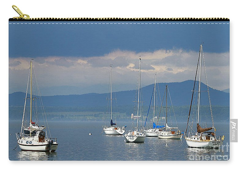 Lake Carry-all Pouch featuring the photograph Storm A Brewing by Deborah Benoit