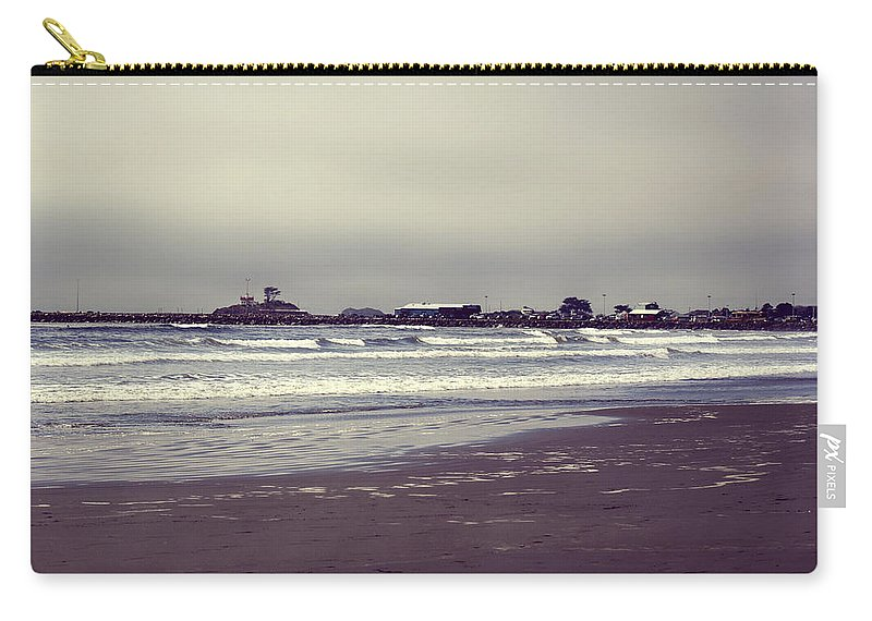 Lighthouse Carry-all Pouch featuring the photograph Storm Approaching by Melanie Lankford Photography