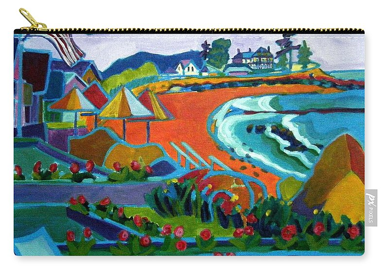 Landscape Carry-all Pouch featuring the painting Storm Brewing Hampton NH by Debra Bretton Robinson