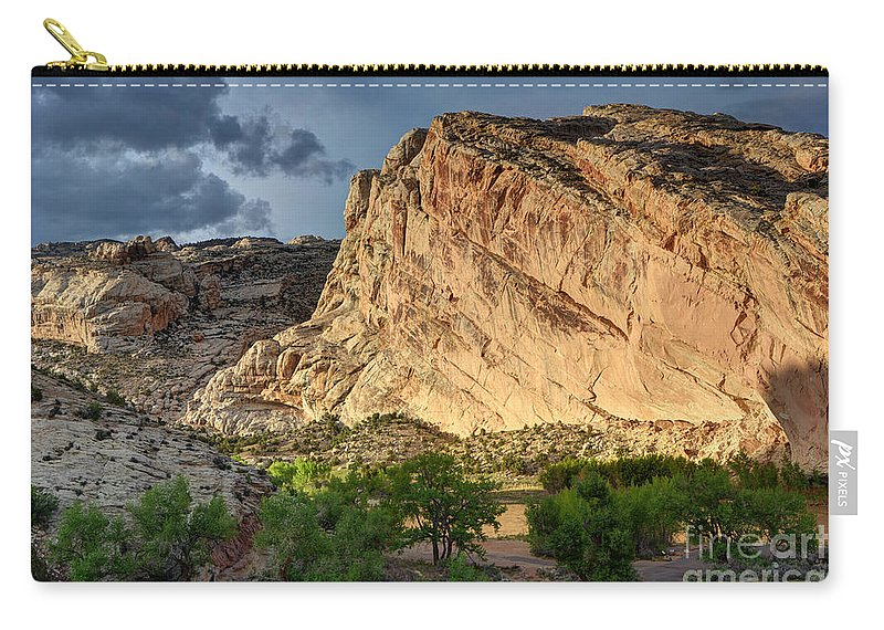 Spring Carry-all Pouch featuring the photograph Storm Clouds Above Split Mountain Dinosaur National Monument by Gary Whitton