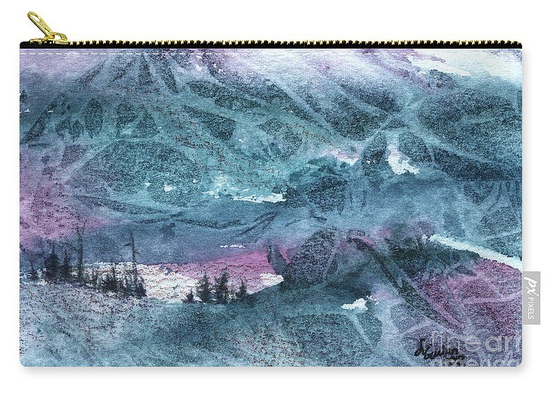 Storm Carry-all Pouch featuring the painting Storm II by Lynn Quinn