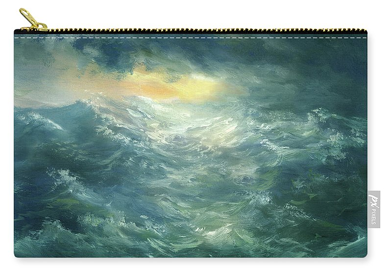 Scenics Carry-all Pouch featuring the digital art Storm Is Coming by Pobytov