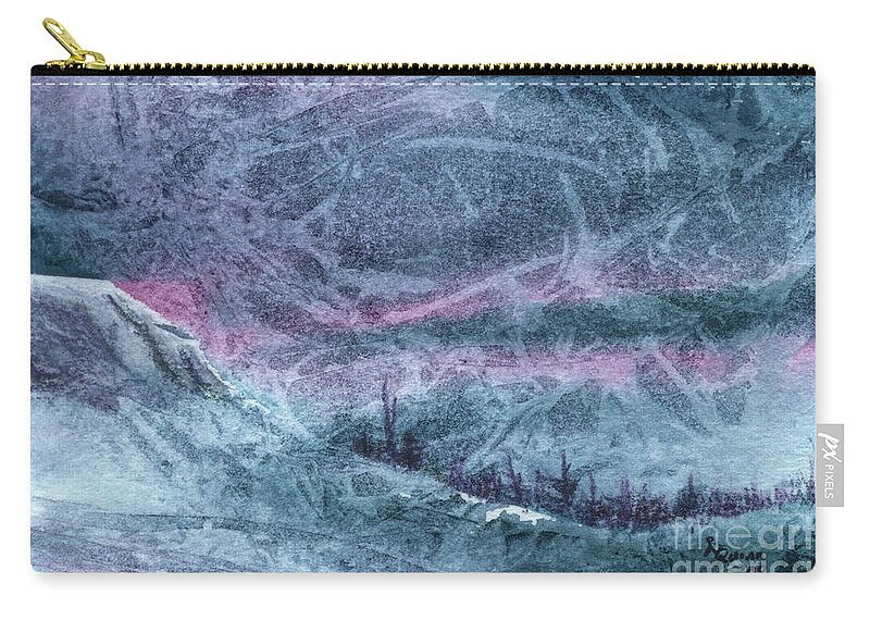 Storm Carry-all Pouch featuring the painting Storm by Lynn Quinn