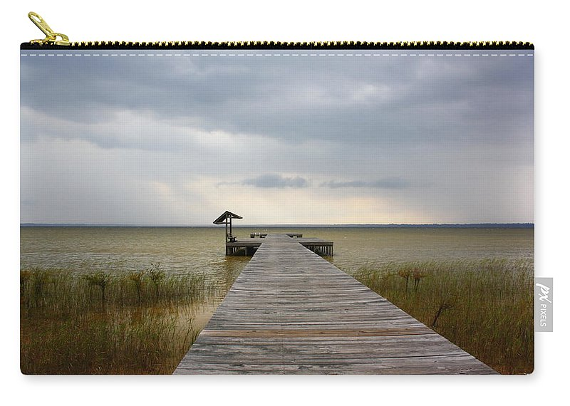Bay Carry-all Pouch featuring the photograph Storm On The Horizon by Yajhyara Maria
