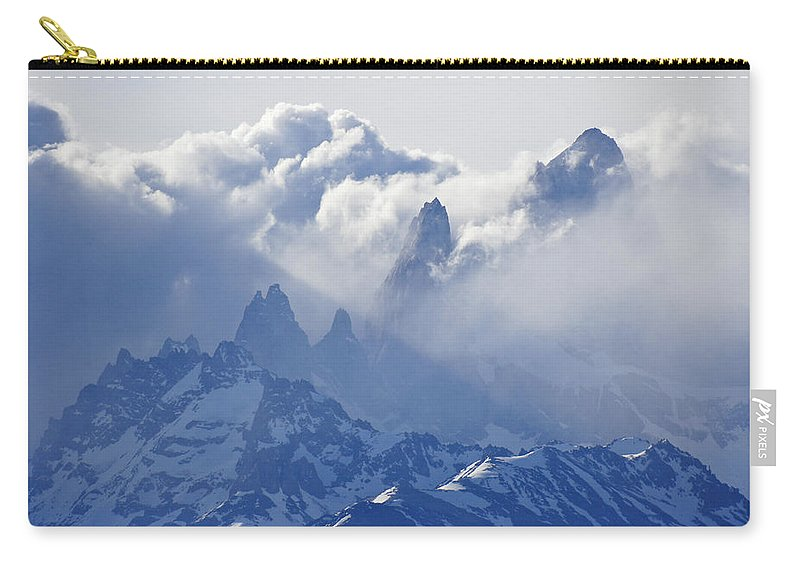 Argentina Carry-all Pouch featuring the photograph Storm Over Fitz Roy 2 by Michele Burgess