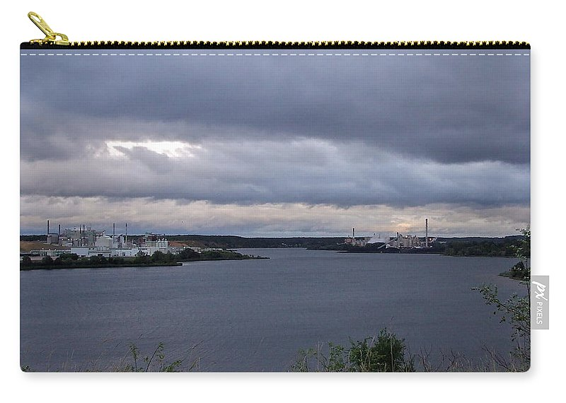 Lake Manistee Carry-all Pouch featuring the photograph Storm Over Lake Manistee by Susan Wyman