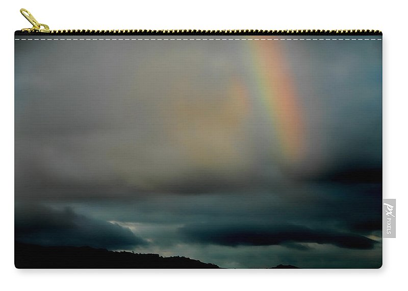 Rainbow Carry-all Pouch featuring the photograph Storm Passing by Donna Blackhall