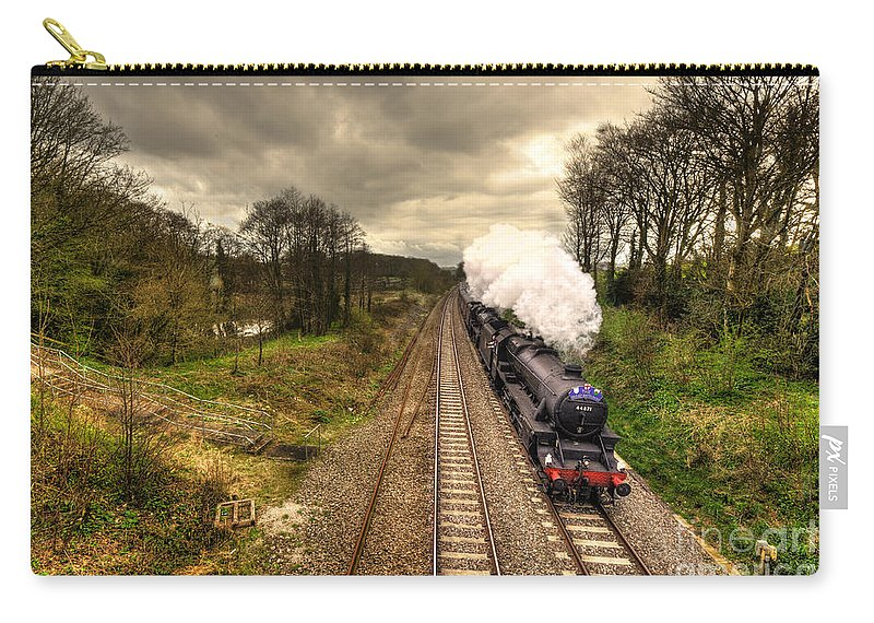 Whiteball Carry-all Pouch featuring the photograph Stormin The Bank by Rob Hawkins