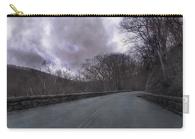 Blue Carry-all Pouch featuring the photograph Stormy Blue Ridge Parkway by Betsy Knapp