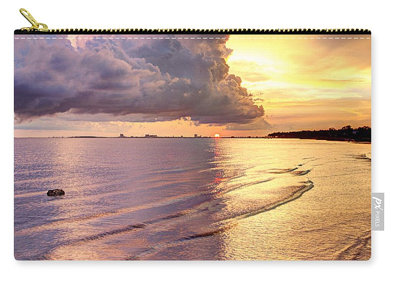 Sunset Carry-all Pouch featuring the photograph Stormy Glow by Joan McCool