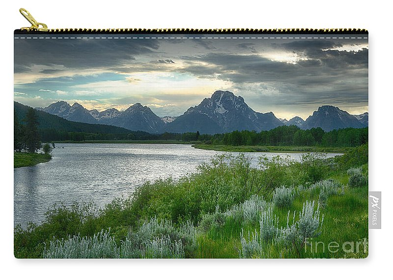 Tetons Carry-all Pouch featuring the photograph Stormy Skies by Claudia Kuhn