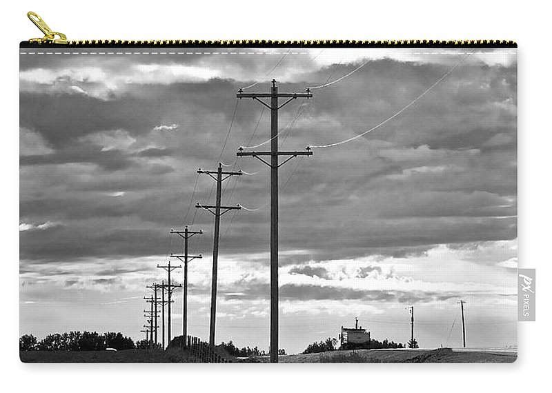 Storm Clouds Carry-all Pouch featuring the photograph Stormy Skies by Lisa Knechtel
