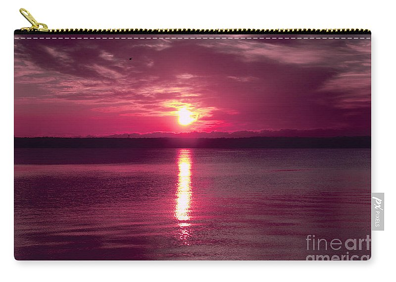 Clouds Carry-all Pouch featuring the photograph Stormy Sunrise by William Norton