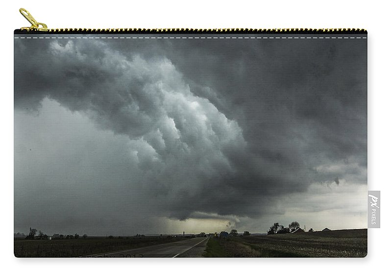 Carry-all Pouch featuring the photograph Stormy Whale's Mouth by Paul Brooks