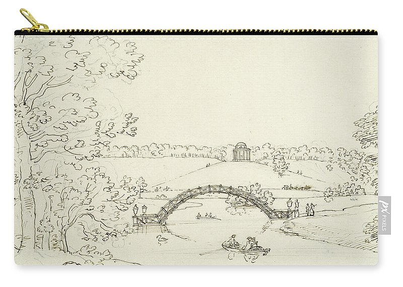 Stour Head Carry-all Pouch featuring the drawing Stourhead by Coplestone Warre Bampfylde