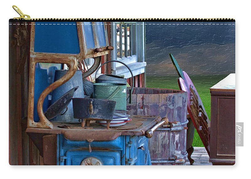 Stove - Appliance - Cooker - Kitchen Carry-all Pouch featuring the photograph Stove - Appliance - Cooker - Kitchen by Liane Wright