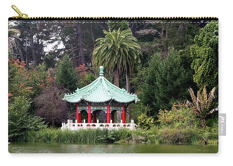 San Francisco Carry-all Pouch featuring the photograph Stow Lake Chinese Pavilion by Christiane Schulze Art And Photography