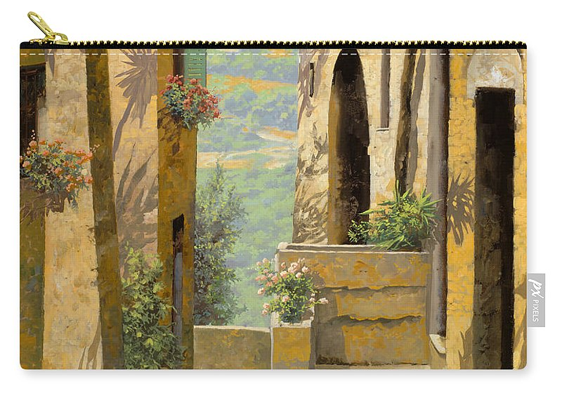 Landscape Carry-all Pouch featuring the painting stradina a St Paul de Vence by Guido Borelli