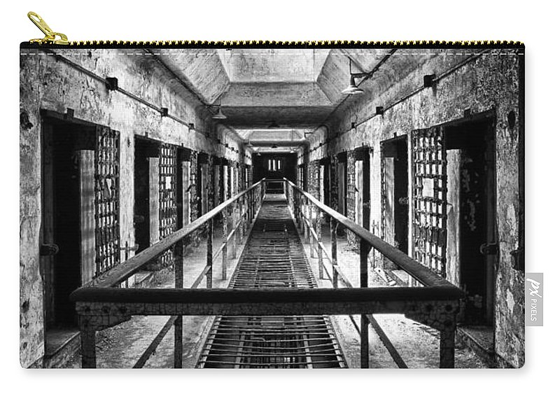 Jail Carry-all Pouch featuring the photograph Straight And Narrow by Claudia Kuhn