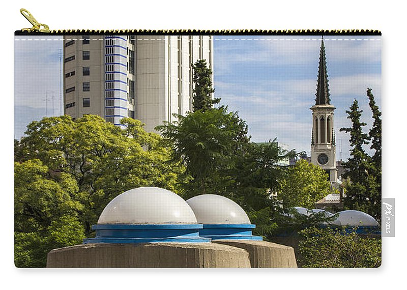 Buenos Aires Carry-all Pouch featuring the relief Strange Buenos Aires Architecture by For Ninety One Days