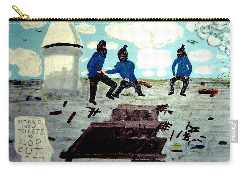 Historical Art Carry-all Pouch featuring the painting Strangeways Prison Riots Uk.1990s by MERLIN Vernon