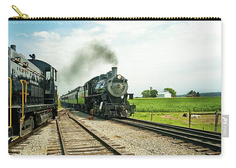 D2-rr-0845 Carry-all Pouch featuring the photograph Strasburg Express by Paul W Faust - Impressions of Light
