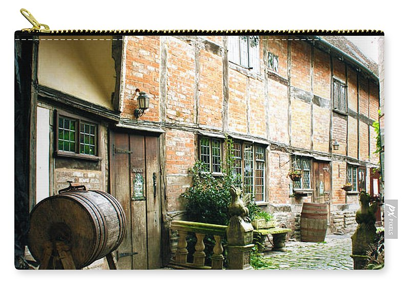 Stratford Upon Avon Carry-all Pouch featuring the photograph Stratford Back Alley by Terri Waters