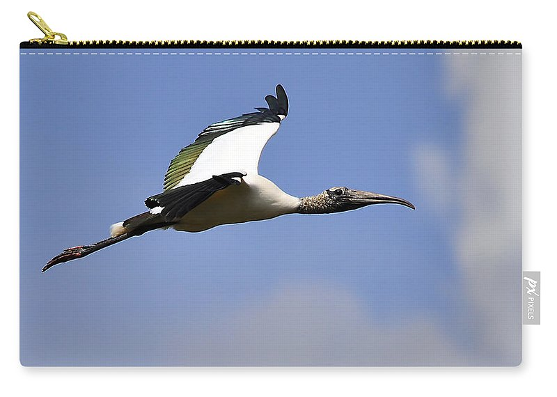 Stork Carry-all Pouch featuring the photograph Stratostork by Al Powell Photography USA