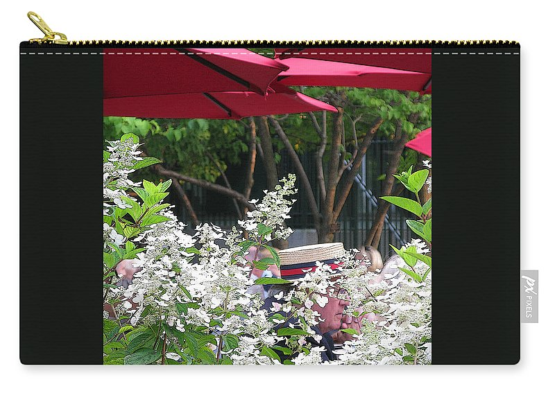 Umbrella Carry-all Pouch featuring the photograph Straw Hat by Ann Horn