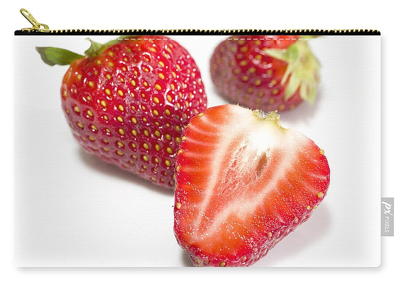 Ripe Carry-all Pouch featuring the photograph Strawberries by Paulo Goncalves