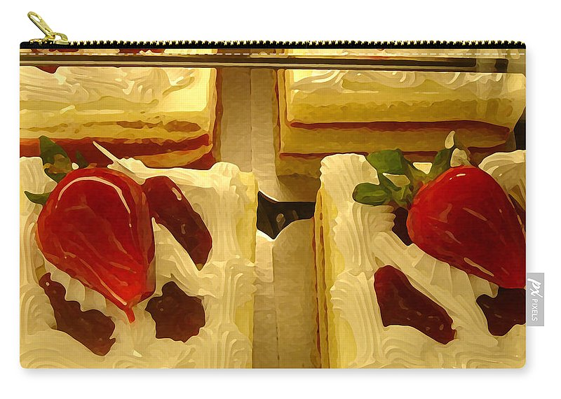 Kitchen Carry-all Pouch featuring the painting Strawberry Cakes by Amy Vangsgard
