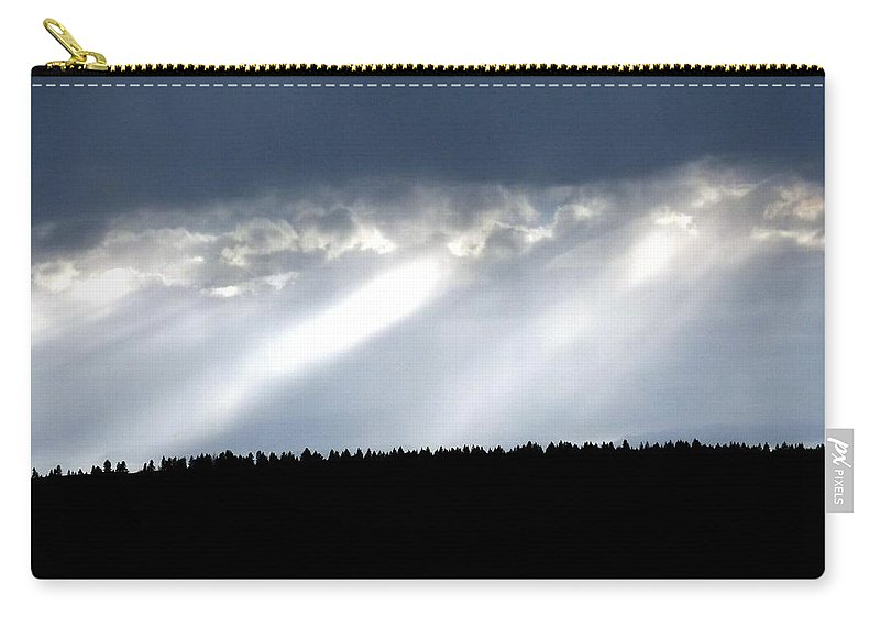 Streaks Of Sunlight Carry-all Pouch featuring the photograph Streaks Of Sunlight by Will Borden