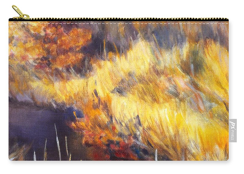 Stream Carry-all Pouch featuring the painting Stream by Kendall Kessler