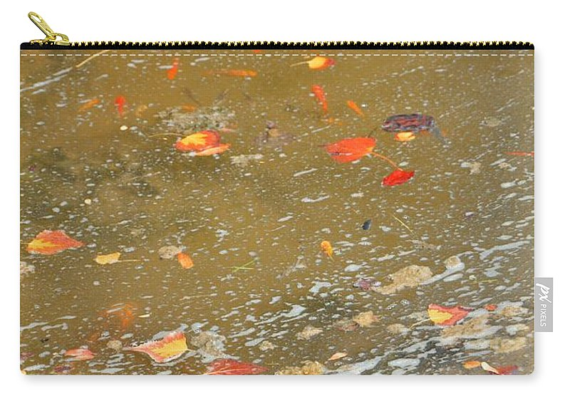Leafs Carry-all Pouch featuring the photograph Streaming by Image Takers Photography LLC - Laura Morgan