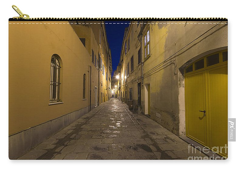 Alley Carry-all Pouch featuring the photograph Street Alley By Night by Mats Silvan
