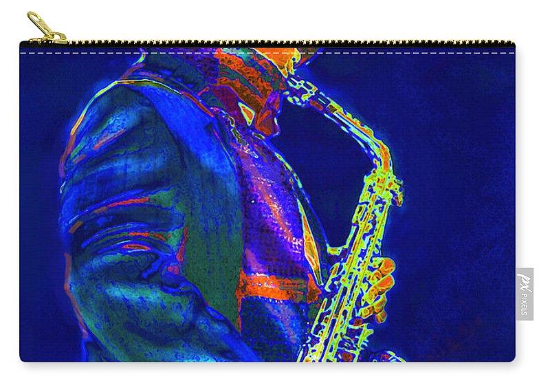 Jane Schnetlage Carry-all Pouch featuring the digital art Street Music by Jane Schnetlage