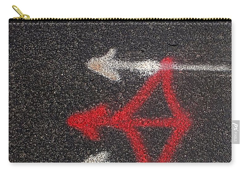 Street Carry-all Pouch featuring the photograph Street Painting Number 3 by Joe Kozlowski