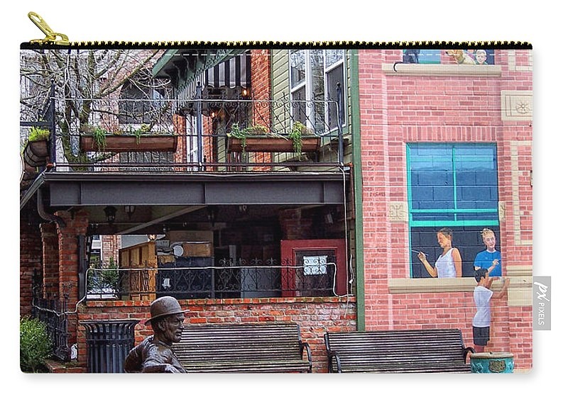 Street Carry-all Pouch featuring the photograph Street Scene by Donna Blackhall