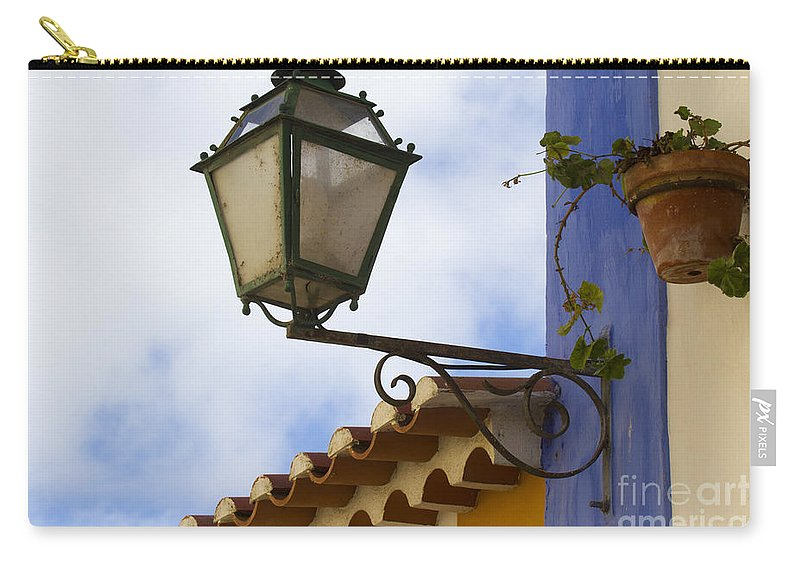 Heiko Carry-all Pouch featuring the photograph Streetlight Horizontal by Heiko Koehrer-Wagner