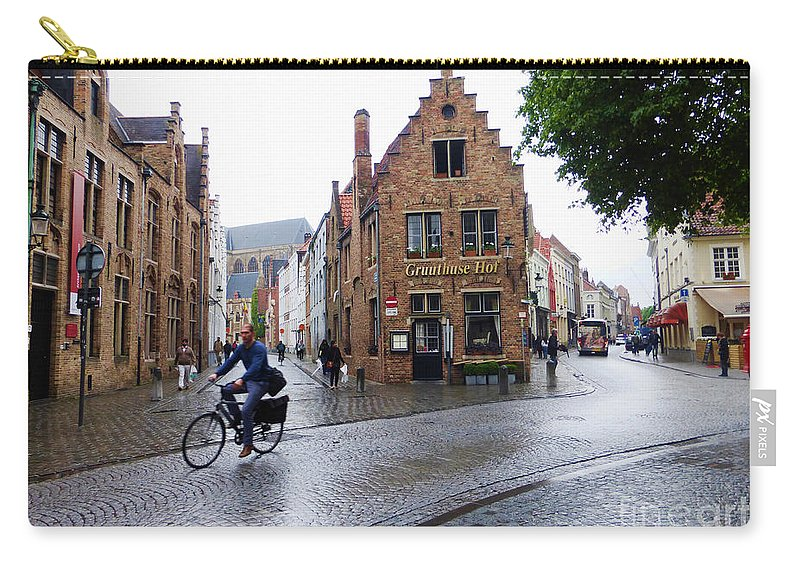Europe Carry-all Pouch featuring the photograph Streets Of Brugges 3 by Crystal Nederman
