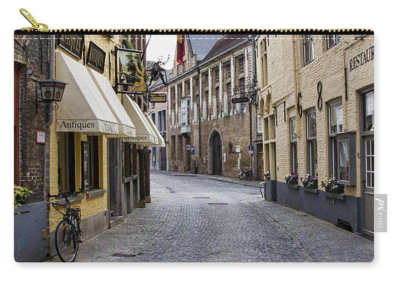 Europe Carry-all Pouch featuring the photograph Streets Of Bruges by Crystal Nederman