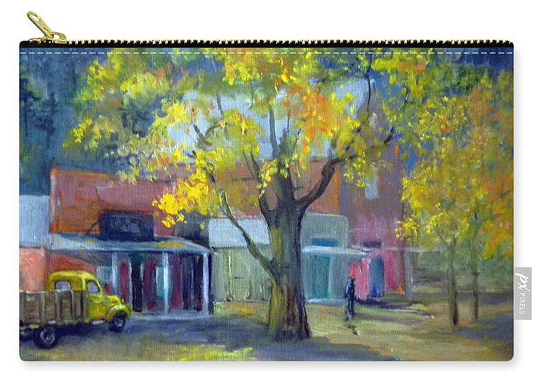 Genoa Carry-all Pouch featuring the painting Streets Of Genoa by Judie White
