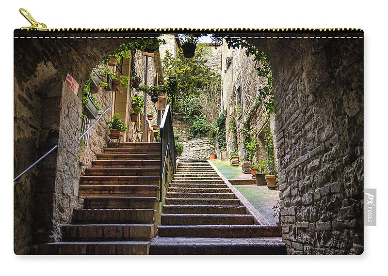 Street Carry-all Pouch featuring the photograph Streets Of Pisa by Pablo Lopez