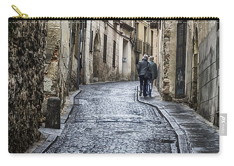 Joan Carroll Carry-all Pouch featuring the photograph Streets Of Segovia by Joan Carroll