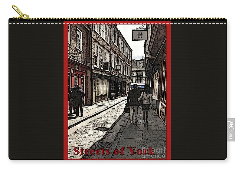Street Photographs Carry-all Pouch featuring the photograph Streets Of York by Joan-Violet Stretch