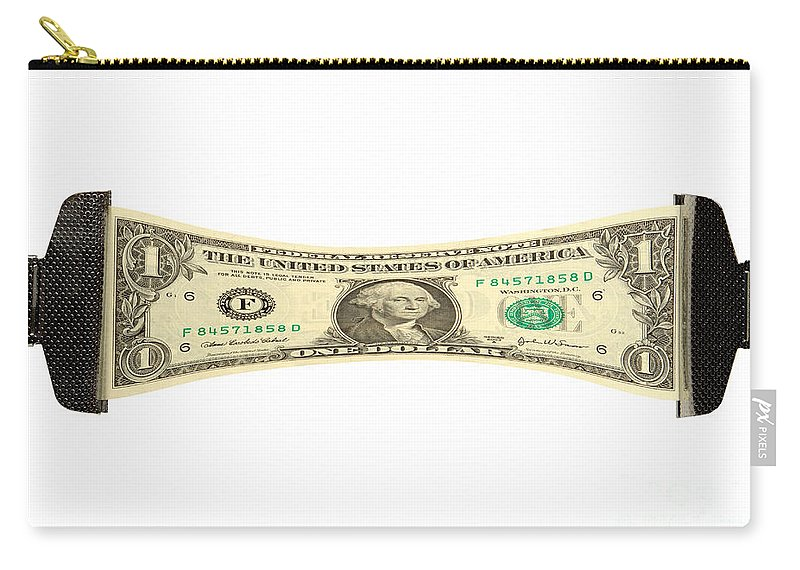 Dollar Carry-all Pouch featuring the photograph Stretching The Dollar by Olivier Le Queinec