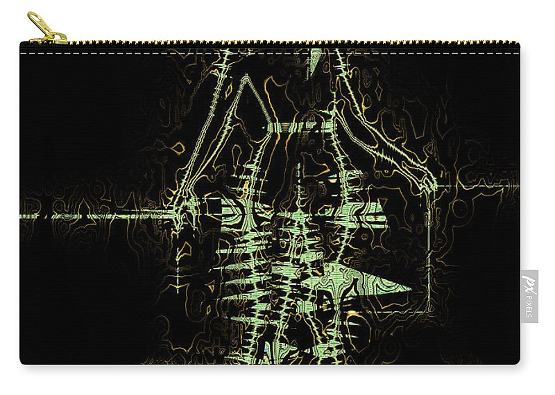 Abstract Carry-all Pouch featuring the digital art Striding Woman 1 by Jack Bowman
