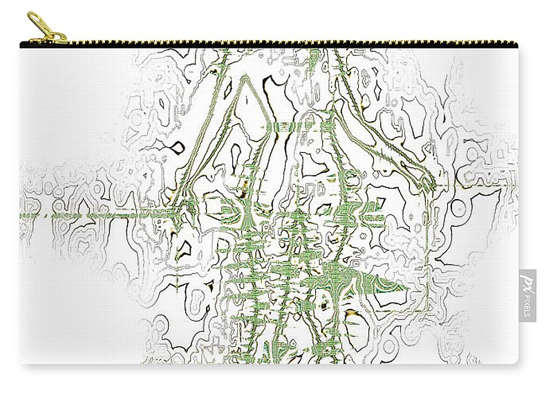 Abstract Carry-all Pouch featuring the digital art Striding Woman 2 by Jack Bowman